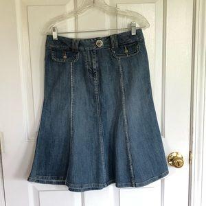 Candie's denim midi skirt. Junior's 5/Women's 6